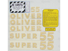 Oliver Super 55 Tractor Complete Decal Kit