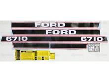 "Ford 6710 Tractor Complete Decal Kit ""Red Stripe"""