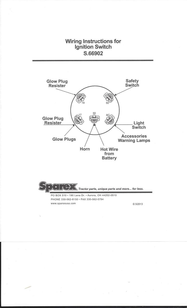Ford 1100 Tractor Wiring Diagram