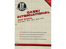 I&T Shop Manual for Case IH International 235 245 255 265 275 Compact Tractor