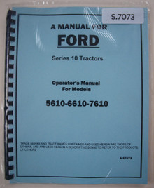 Ford 5610 6610  7610 '81-85 Tractor Operator's Manual