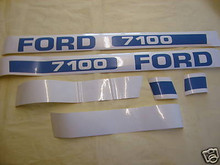 Ford 7600 Tractor Hood Decal Kit