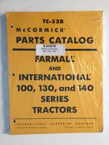 IH International 100 130 140 Tractor Parts Catalog