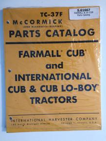 IH International Cub/Cub Lo-Boy Tractor Parts Catalog