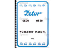 Zetor 9520 9540 Tractor Workshop Manual