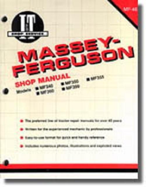 MF399 MF355 Diesel Only MF350 Massey-Ferguson Repair Manual MF340 MF360