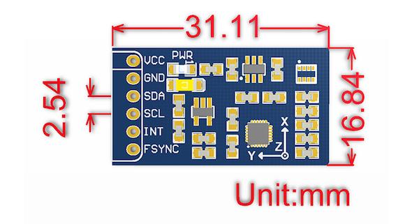 10 DOF IMU Sensor - Dimensions