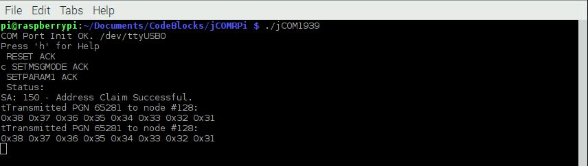 SAE J1939 ECU Simulation And Data Monitoring Under Linux