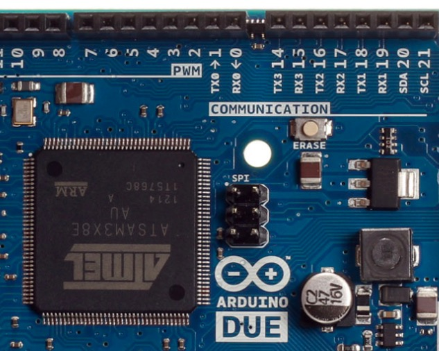 Arduino Due ARM Cortex M3 Processor With UART Connection