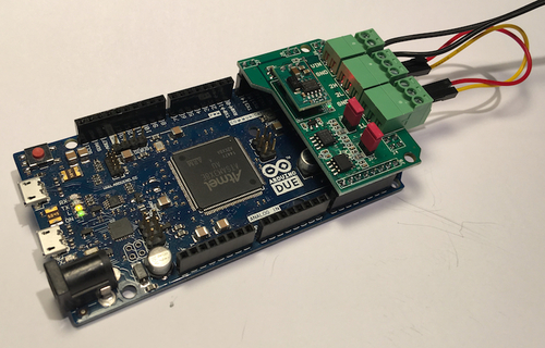 Dual CAN Bus Interface For Arduino Due With Extended Power Range