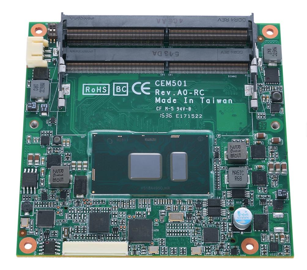 Axiomtek CEM511 - COM Express Type 6 Module with 7th Gen Intel® Core™ i7/i5/i3 Processor