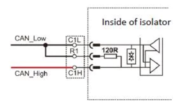 CAN-11 CAN Bus DIN Rail Isolated Repeater - Activating Bus Termination
