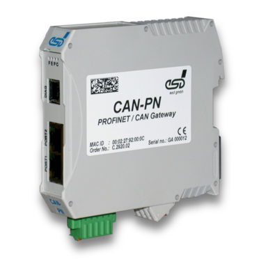 CAN Bus to Profinet Gateway by esd electronics