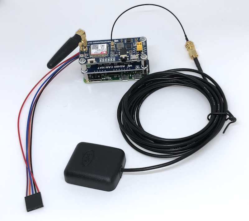 ELD Concept - Raspberry Pi With CAN Bus Port Plus GSM/GPRS/GNSS/Bluetooth HAT