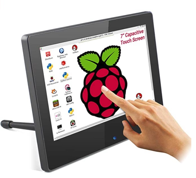 ELECROW 7 Inch Raspberry Pi Monitor Touchscreen 1024x600 IPS Display USB Powered HDMI Monitor with Built-in Speaker & Stand for Raspberry Pi 4 3 2 Win PC