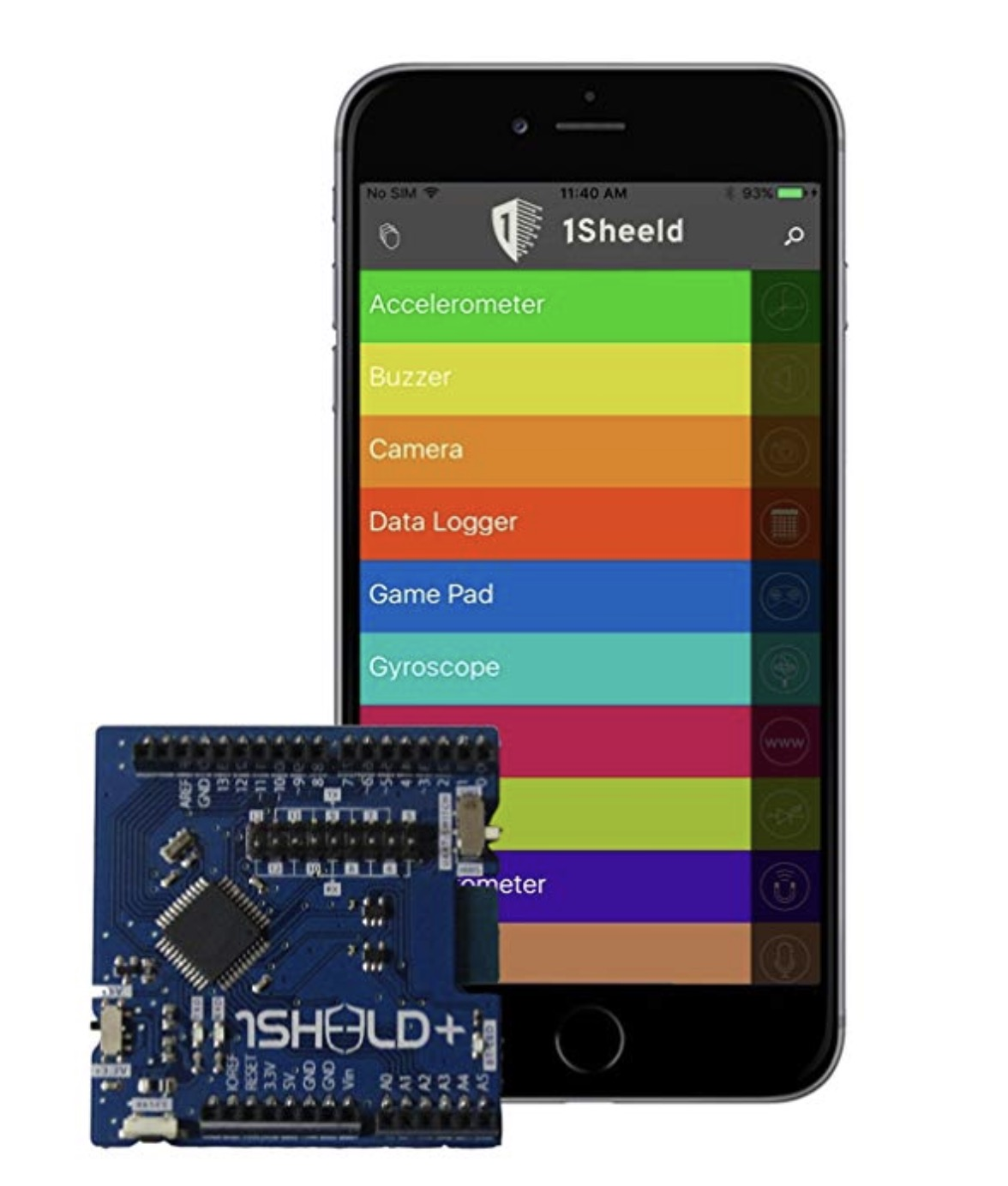 Arduino Shield With Bluetooth (BLE) Module Connects To iOS