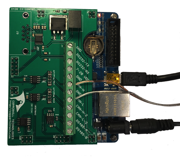 jBoard-X2 - SAE J1939 Simulator and Monitor - Connections