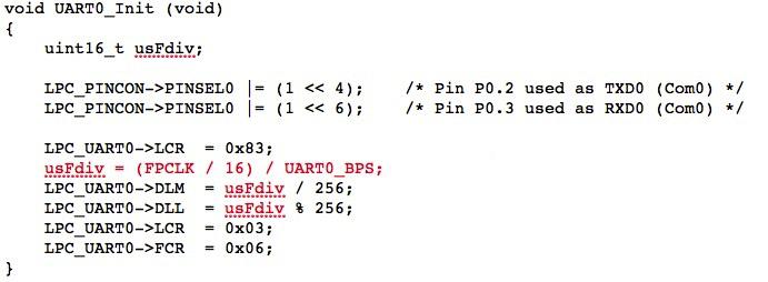 ARM Cortex Processors – UART Programming Problem At Baud