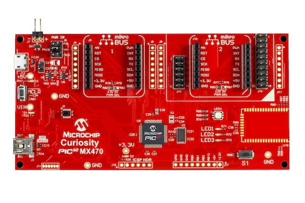 Microchip Curiosity PIC32MX470 Development Board