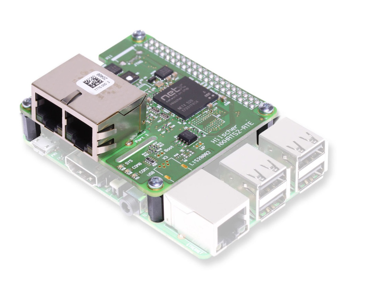 netHAT - Real-Time Ethernet Slave Interface For Raspberry With ProfiNet, Ethernet I/P, EtherCAT Firmware Options
