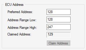 New SAE J1939 Node Address