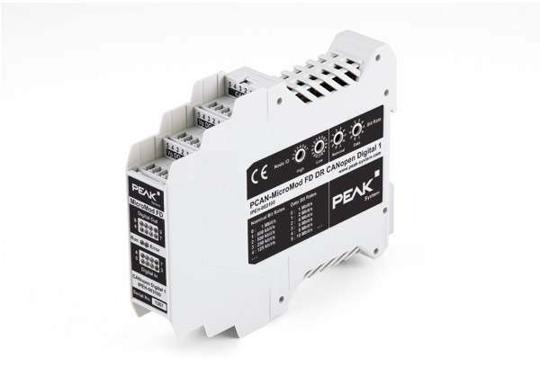 Peak System PCAN-MicroMod FD DR CANopen Digital 1 - Industrial CANopen and CANopen FD Module for Digital I/O Applications