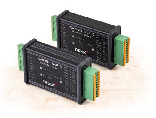 PEAK PCAN-MicroMod CAN Bus FD Digital I-O Module