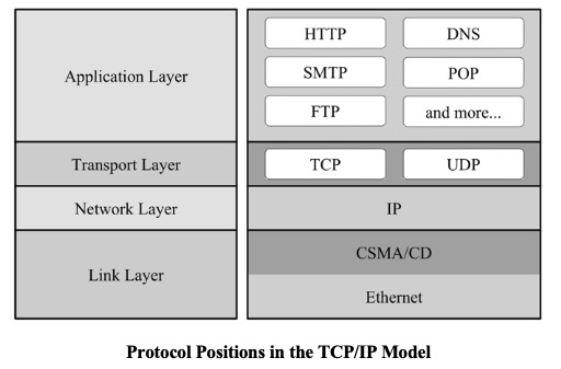 Protocol Positions in the TCP/IP Model