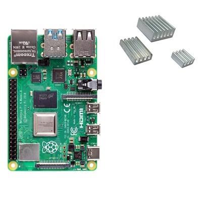 Raspberry Pi 4 with heat sinks
