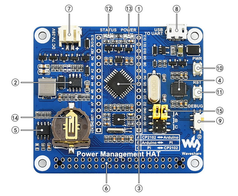 Raspberry-Pi-Power-Management-HAT-Components