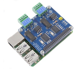 Raspberry Pi with PiCAN2 Duo Isolated CAN-Bus Board 1