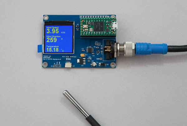 Reading data from an NMEA 2000 wind and temperature sensor
