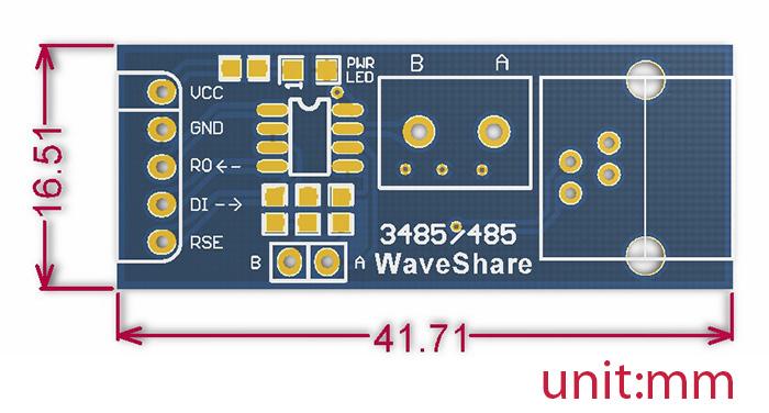 RS485 Breakout Board Size
