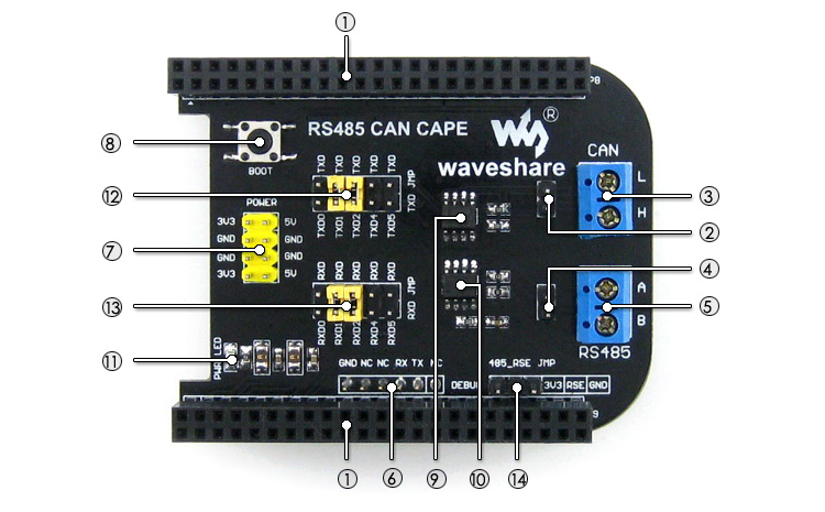 Beaglebone RS485 CAN BUS CAPE