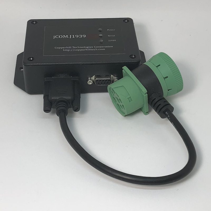 SAE J1939 Programmable Simulator by Copperhill Technologies - Box With J1939 Deutsch Cable
