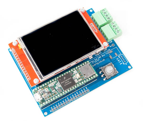 "SKPang - Teensy-Based CAN FD Demo Board With 2.8"" TFT LCD"