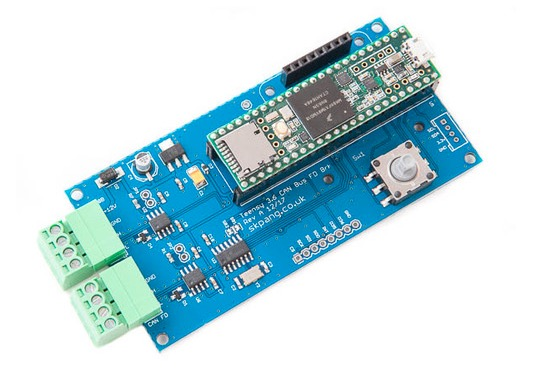 Teensy 3.6 CAN 2.0B and CAN FD Breakout Board