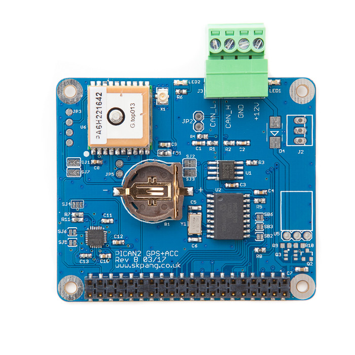 PiCAN with GPS - Gyro - Accelerometer CAN-Bus Board for Raspberry Pi