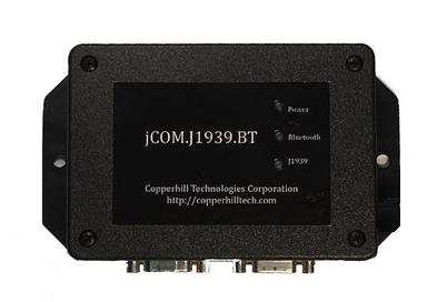 SAE J1939 to Bluetooth Gateway With Internal Bluetooth Antenna