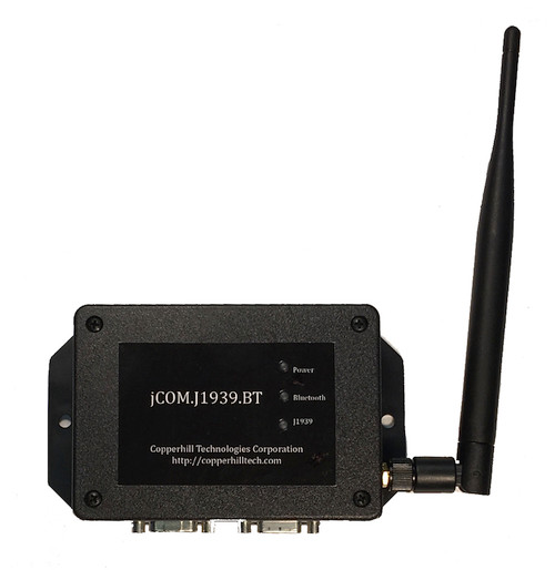 SAE J1939 to Bluetooth Gateway With External Bluetooth Antenna 9-Pin Deutsch Connection Cable