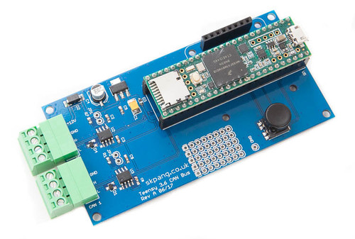 Teensy 3.6 Dual CAN-Bus Breakout Board With OLED Display