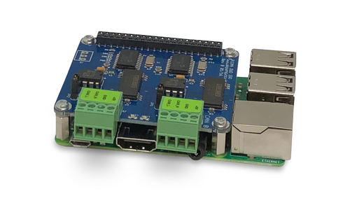 Raspberry Pi 3 B+ System With Dual Isolated CAN Bus Interface