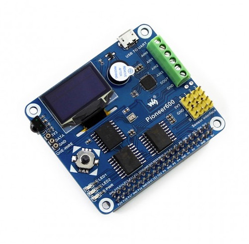 Pioneer600 Raspberry Pi Expansion Board With Display, RTC, GPIO, AD/DA, and more...