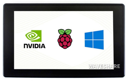 7inch Capacitive Touch Screen LCD (H) with Case, 1024×600, HDMI For Raspberry Pi