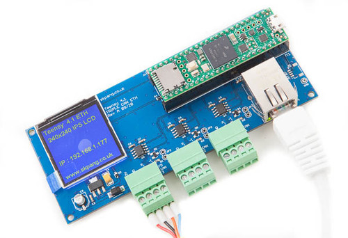 Teensy 4.1 Triple CAN Board with 240x240 LCD and Ethernet