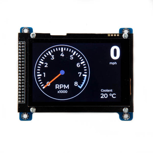 """Teensy 4.0 Classic CAN, CAN FD Board with 480x320 3.5"""" Touch LCD"""
