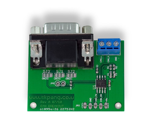 Controller Area Network (CAN) Bus Breakout Board for Embedded Systems