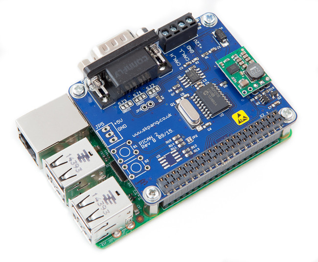 PiCAN2 - CAN Interface for Raspberry Pi With SMPS