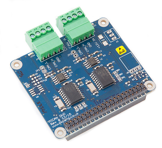 PiCAN2 Duo CAN-Bus Board for Raspberry Pi