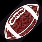 Football Die Cut - Large Single